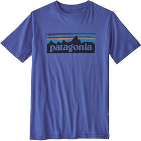 Patagonia Boys P-6 Logo Organic T-Shirt Imperial Blue